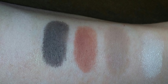 No Primer - L to R Nude, Deep Brown, Sienna, Warm Taupe, Vanilla